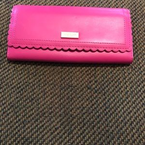 Kate Spade hot pink leather wallet
